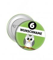 """Dein Button """"Eule"""" - Wunschtext"""