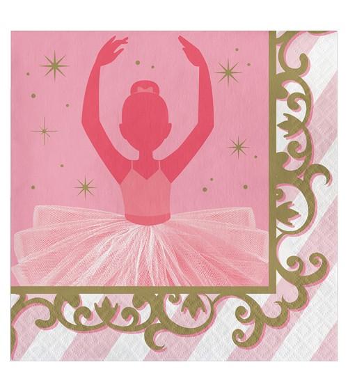 "Servietten ""Prima Ballerina"" - 16 Stück"