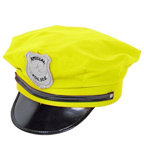 Polizeimütze - neongelb