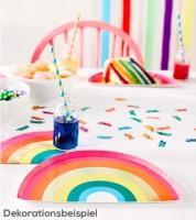 """Regenbogen-Pappteller """"Birthday Brights"""" - 12 Stück"""