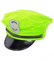 Polizeimütze - neongrün