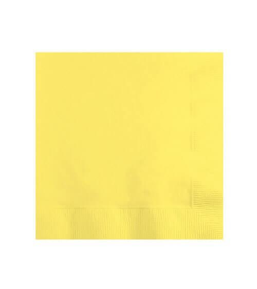 Cocktail-Servietten - gelb - 50 Stück
