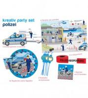 """Kreativ-Partyset """"Polizei"""" für 6 Personen"""