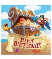 """Servietten """"Piratenschatz"""" - Happy Birthday - 16 Stück"""