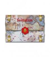 """Einladungskarten """"Feurige Piraten"""" - 8 Stück"""