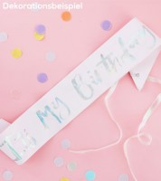 """Schärpe """"It's my Birthday"""" - rosa/irisierend"""