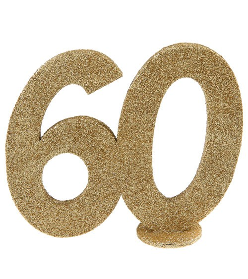 """Tischaufsteller """"60"""" - gold - 12 x 10 cm"""