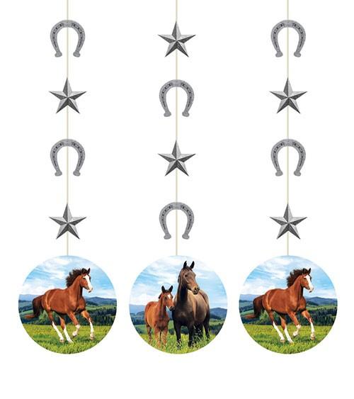 "3er-Motivgirlande ""Pferde"""