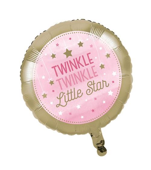 """Runder Folienballon """"One Little Star - Girl"""""""
