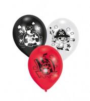"""Luftballon-Set """"Kleiner Pirat"""" - schwarz, rot, weiß - 6-teilig"""