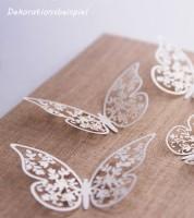 """Papierdeko """"Schmetterlinge mit Blumen"""" - 8 cm - 10 Stück"""