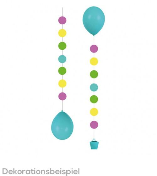 """Hängegirlande für Ballons """"Punkte"""" - bunt - 3 Stück"""