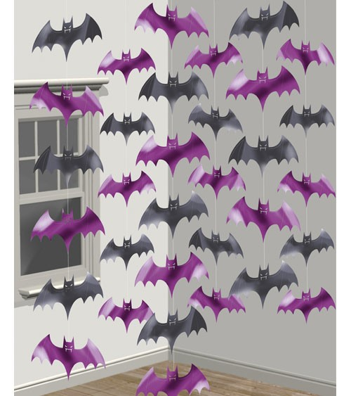 """Girlandenvorhang """"Fledermäuse"""" - 2,13 m - 6 Stück"""