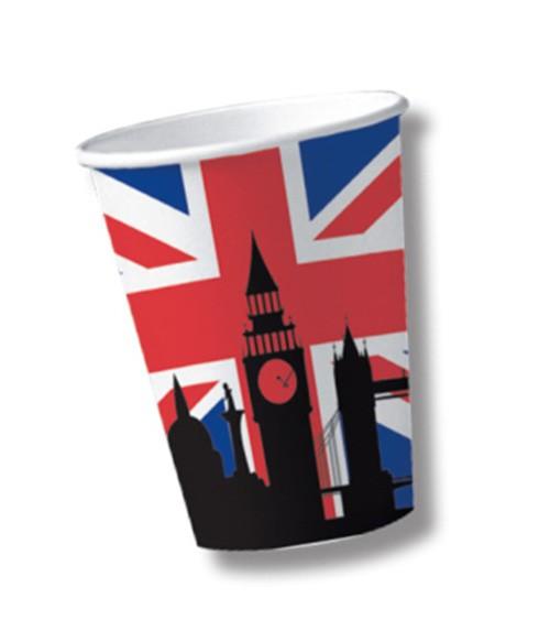 """Pappbecher """"England"""" - 10 Stück"""