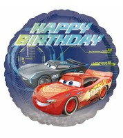 "Runder Folienballon ""Cars 3"" - Happy Birthday"