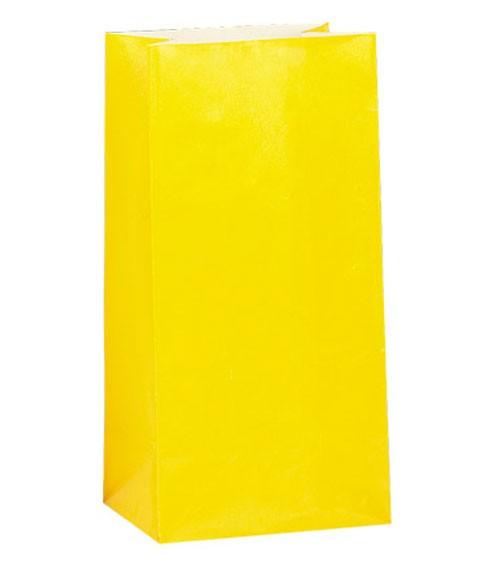 12 Papiertüten - gelb