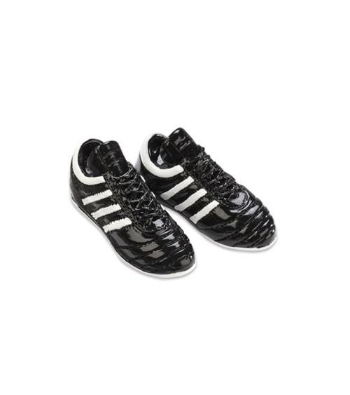 Fußballschuhe aus Polyresin - schwarz/weiß - 4,5 cm - 1 Paar
