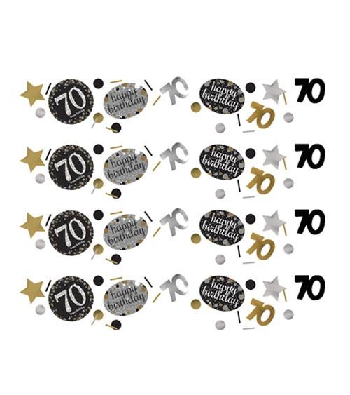 """Konfetti """"Sparkling Celebration"""" - 70. Geburtstag - 34 g"""