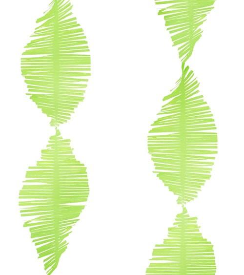 Deko-Krepp-Girlande - apfelgrün - 3 m