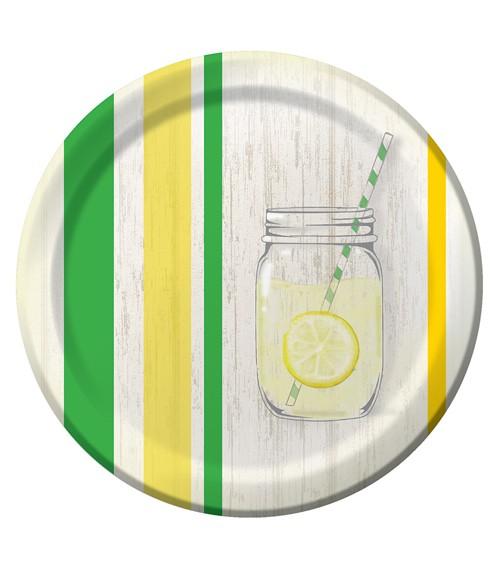 """Pappteller """"Lemons & Lemonade"""" - 8 Stück"""