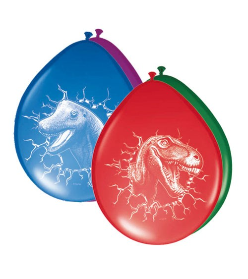 """Luftballon-Set """"Dinos"""" - bunt - 6 Stück"""