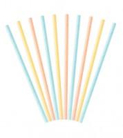 Papierstrohhalme - Pastell Mix - 10 Stück