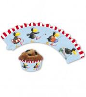 """Cupcake-Wrapper """"Der kleine Rabe Socke"""" - 12 Stück"""
