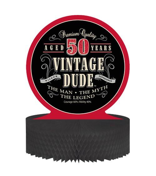 """Wabenaufsteller """"Vintage Dude - 50. Geburtstag"""""""