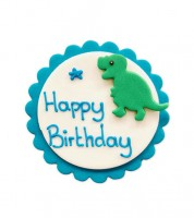 "Zuckerdekor ""Dino"" - Happy Birthday - 7,5 cm"