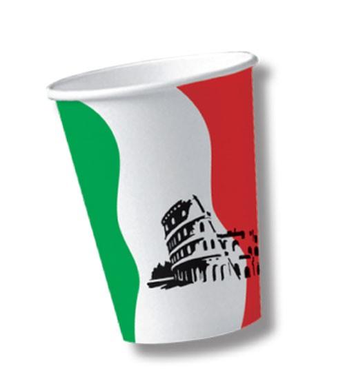 "Pappbecher ""Italien"" - 10 Stück"