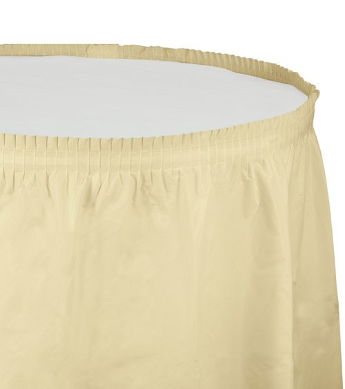 Tischverkleidung - elfenbein - 4,26 m