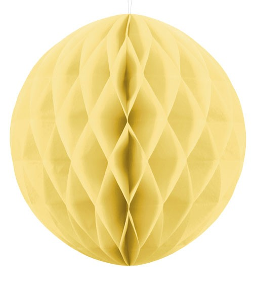 Wabenball - 40 cm - strohgelb