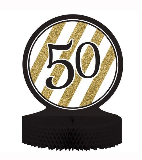 """Aufsteller """"Black & Gold - 50. Geburtstag"""""""