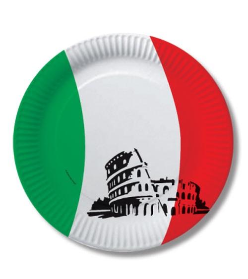 """Pappteller """"Italien"""" - 10 Stück"""