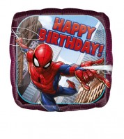 "Eckiger Folienballon ""Spider-Man"" - Happy Birthday"