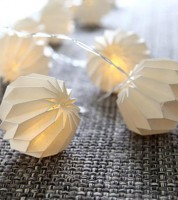"LED-Lichterkette ""Paper Flower"" - weiß - 2,25 m"