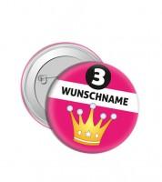 """Dein Button """"Krone"""" - Wunschtext"""