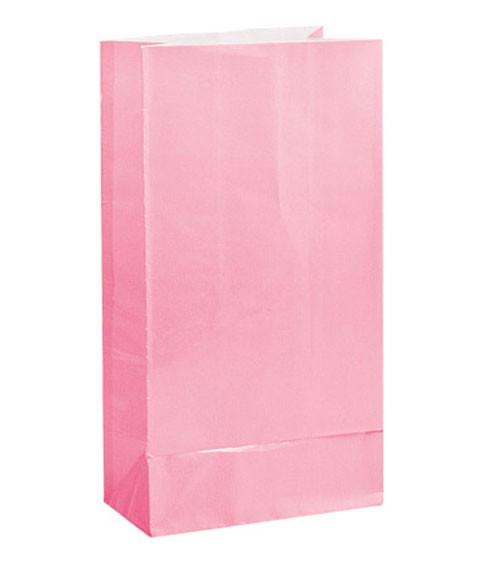 12 Papiertüten - rosa