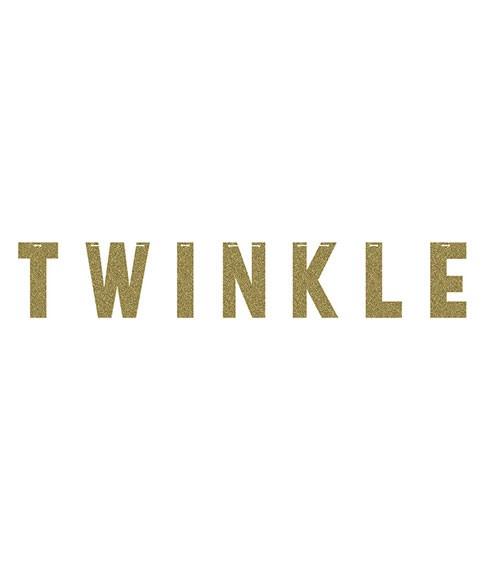 """Schriftzuggirlande """"TWINKLE"""" - gold - 1,67 m"""