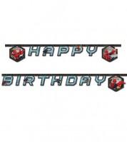"Happy Birthday-Girlande ""Ultimate Spiderman - Web Warriors"" - 1,8 m"