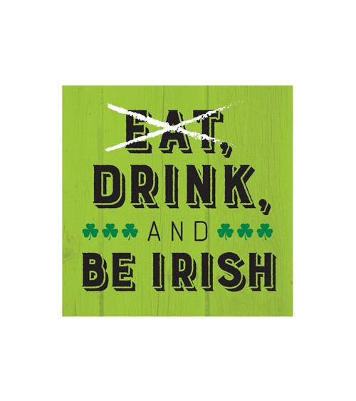 "Cocktail-Servietten ""St. Patrick's Day"" - Irish - 16 Stück"