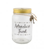 "Spardose aus Glas ""Adventure Fund"""