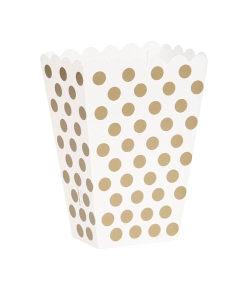 "Süßigkeitenboxen ""Big Dots"" - gold - 8 Stück"