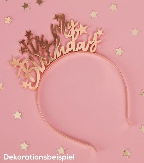"Haarreif ""It's My Birthday"" - gold"